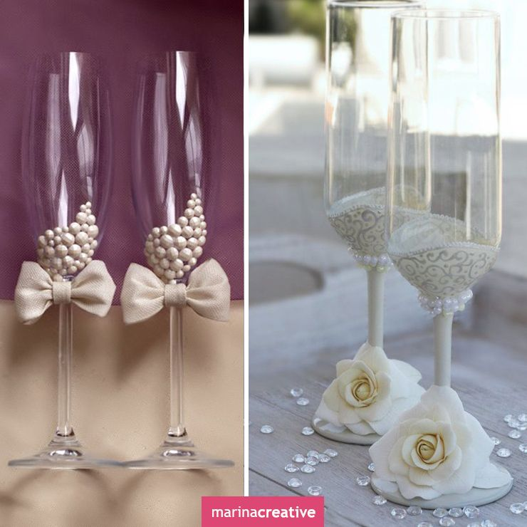 Wedding glasses ideas for decorating stemware pinterest wedding glasses ideas for decorating junglespirit Choice Image