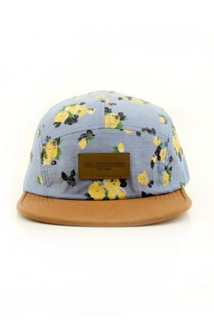 Obey Clothing Stately 5 Panel Hat Mineral Blue 27 00