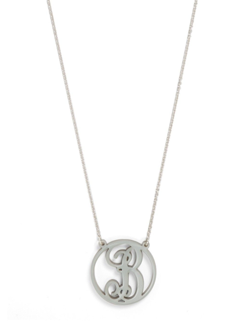 Acrylic Script Initial Pendant (available in 21 different colors)