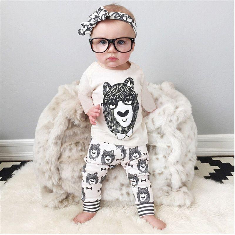 الرضع مجموعات ملابس الطفل الصبي طويلة الأكمام تي شيرت بانت الاطفال ربيع الخريف ملابس تعيين Baby Boy Clothes Newborn Baby Outfits Newborn Trendy Baby Clothes