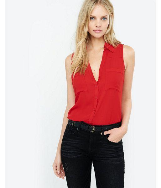 617522debc61c Slim Fit Sleeveless Portofino Shirt Women s