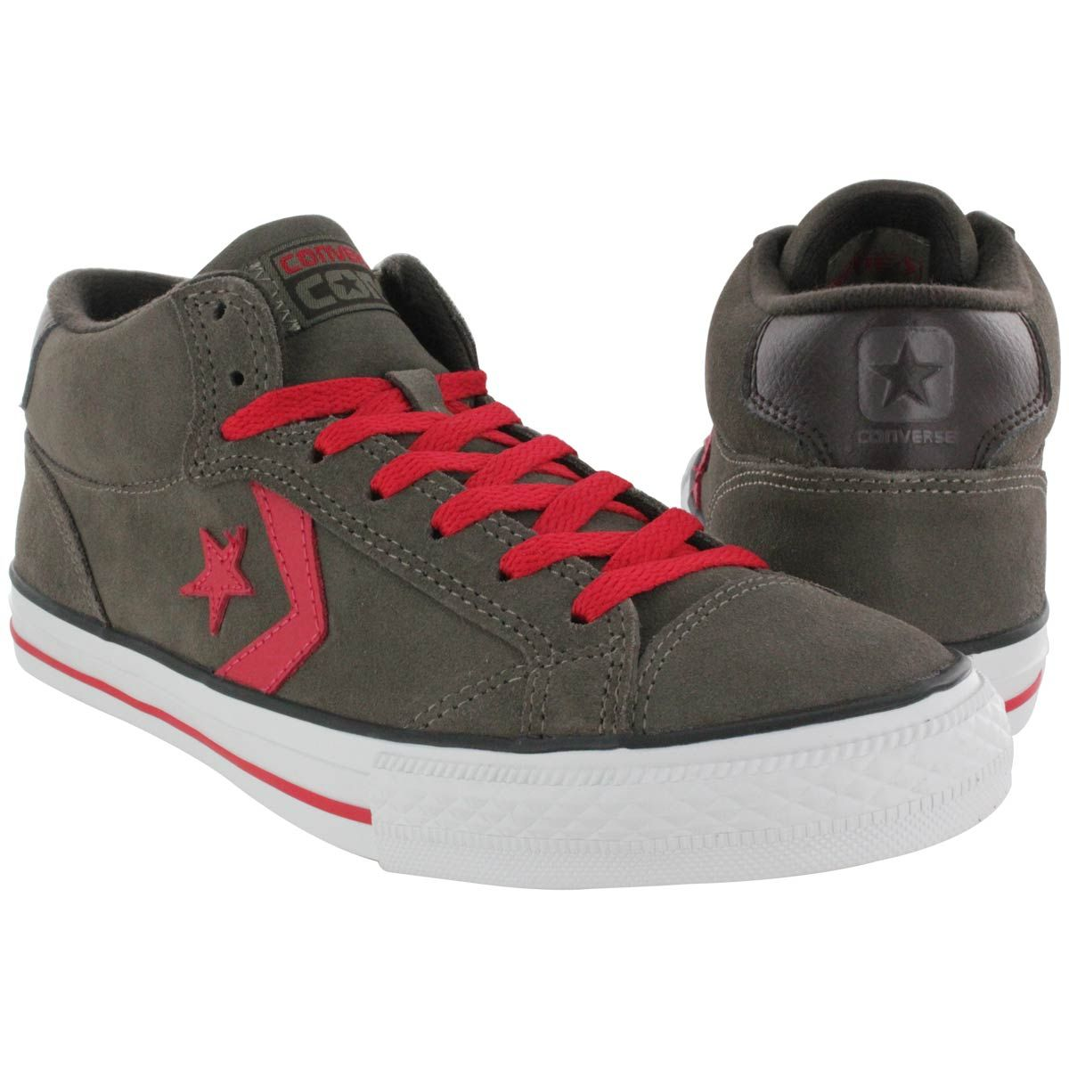 ecc0cd1d33e36a Converse Men s RUNE PRO II MID grey mid cut suede sneakers 139940c m ...