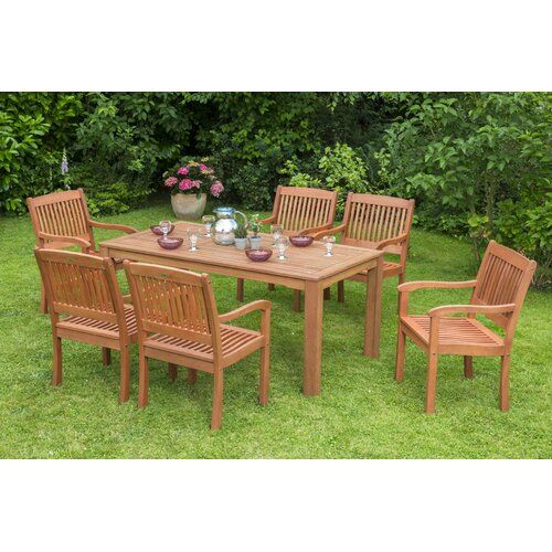 Scottsdale 6 Seater Dining Set Sol 72 Outdoor In 2020 Outdoor
