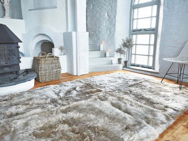 Nordic House Ltd Rugs In Living Room Large Sheepskin Rug Sheepskin Rug Living Room