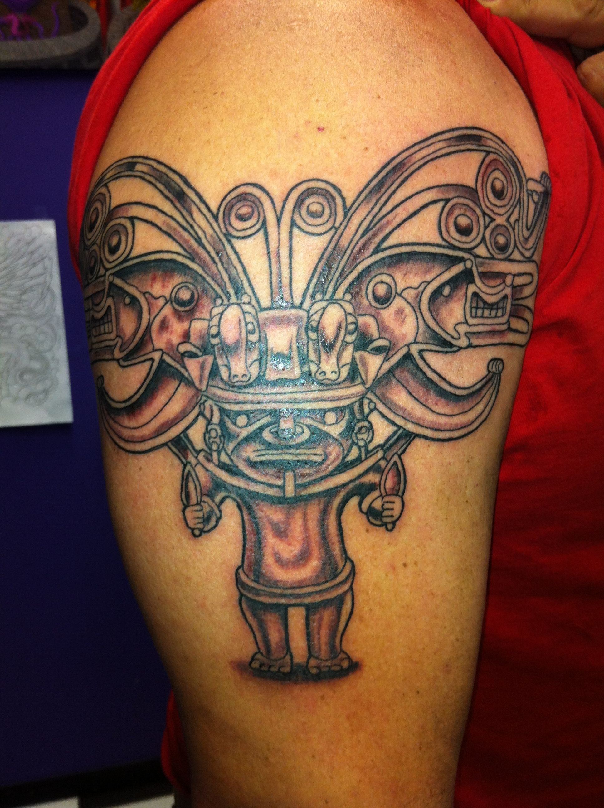 Colombian Tribal Tattoo : colombian, tribal, tattoo, Colombian, Tattoo, Heritage, South, America., Designs, Meanings,, Aztec, Tattoo,, Tattoos