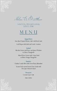 Katina  Love This Menu For Your Wedding I Can Make This  My