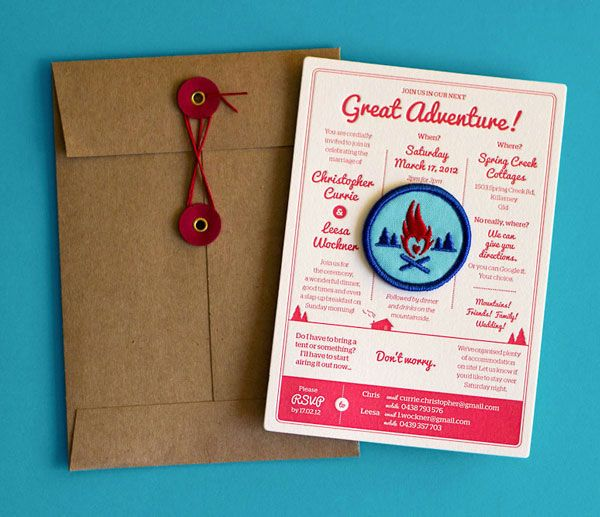 these are the coolest wedding invites ever camping wedding camping and wedding - Camping Wedding Invitations