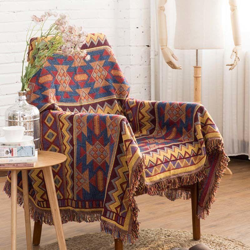 1pcs Plaid Nap Travel Tassel Blanket Sofa Bed Sleeping Cobertor Chair Decorative  Throw Blanket Home Decoration