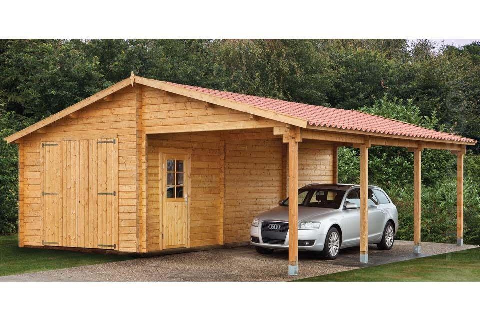 Wood Carport Structures : Houten garage bijgebouw tuinhuis wooden carport