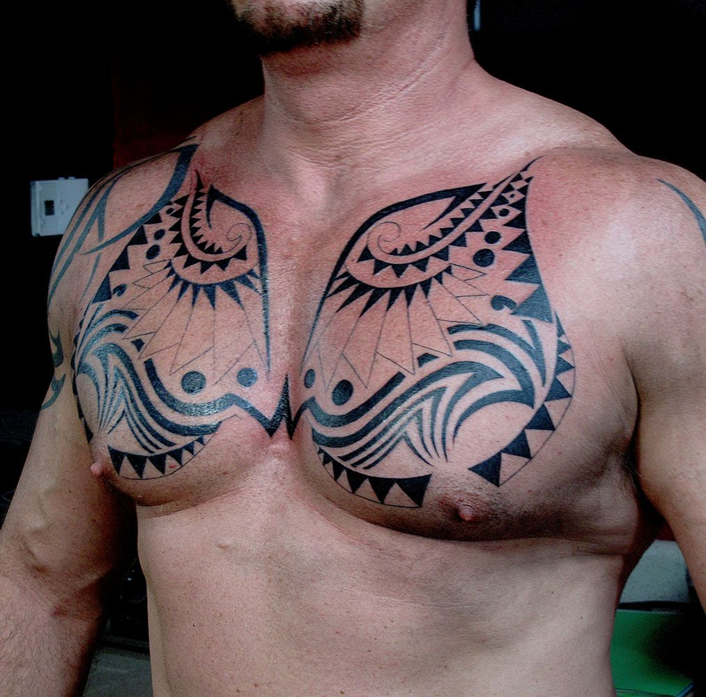 Tribal, chest tattoo on Tribal tattoos