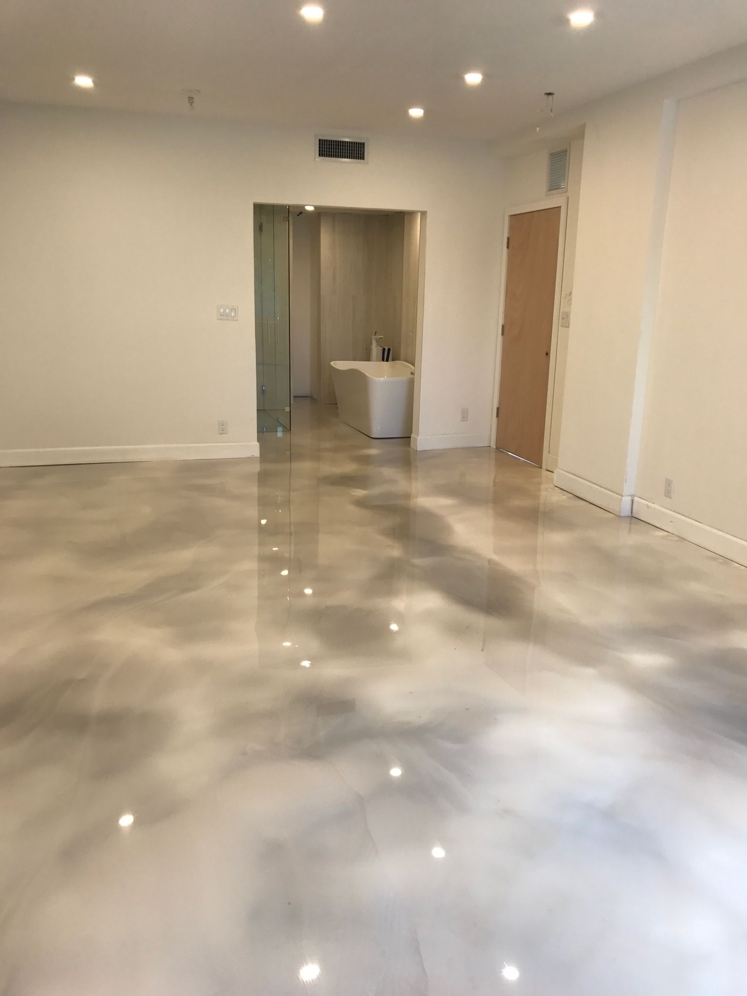 Job By Satin Finish Concrete Of Fort Lauderdale Fl Visit Our Website For Details We Specialize In Epoxy Polished Concrete Me Terrazzo Flooring Epoxy Floor
