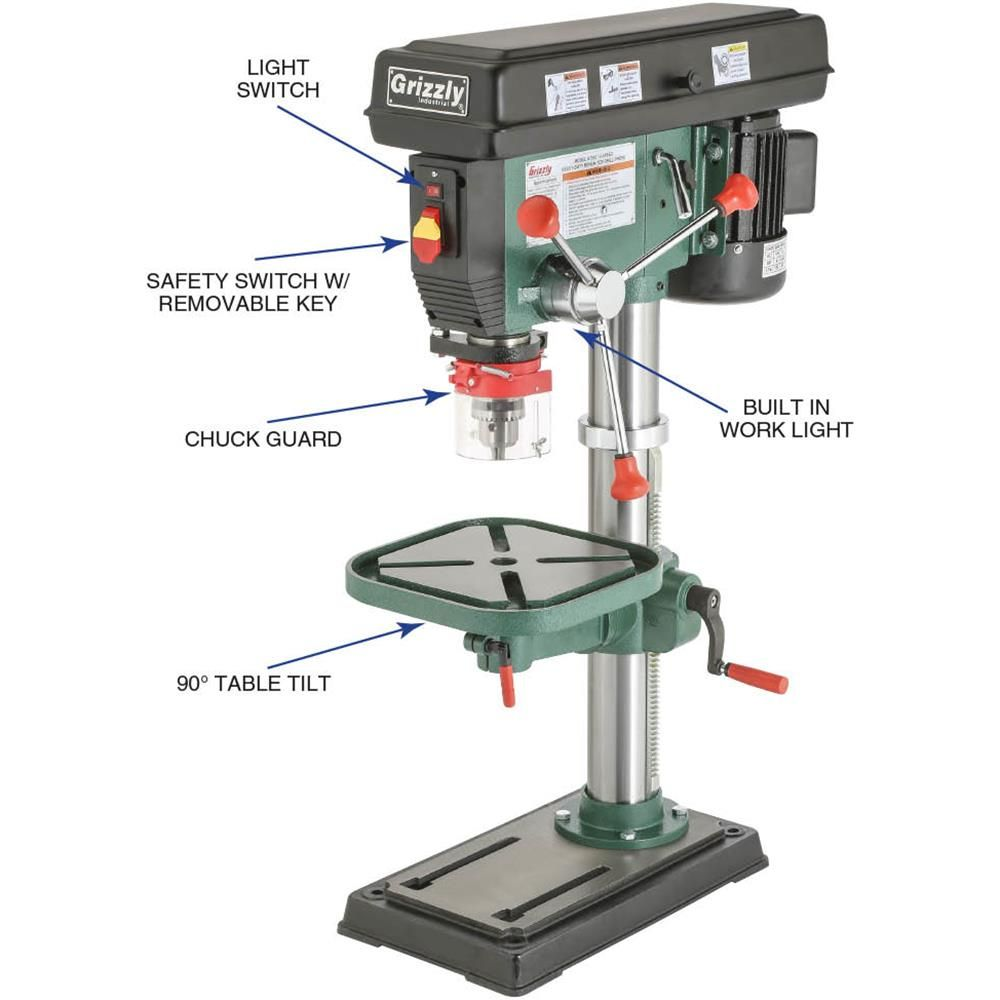 Shop Tools And Machinery At Grizzly Com Drill Press Drill Tools