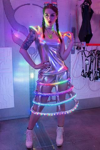 58b923aef6 Cyberdog Light Up Crinolina Dress
