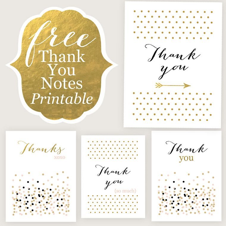 Thank You Cards - Free Printable | Creative, Happy and I am