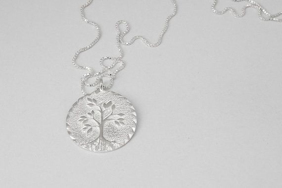 Silver Family Tree Necklace Sterling Silver Tree Of Life