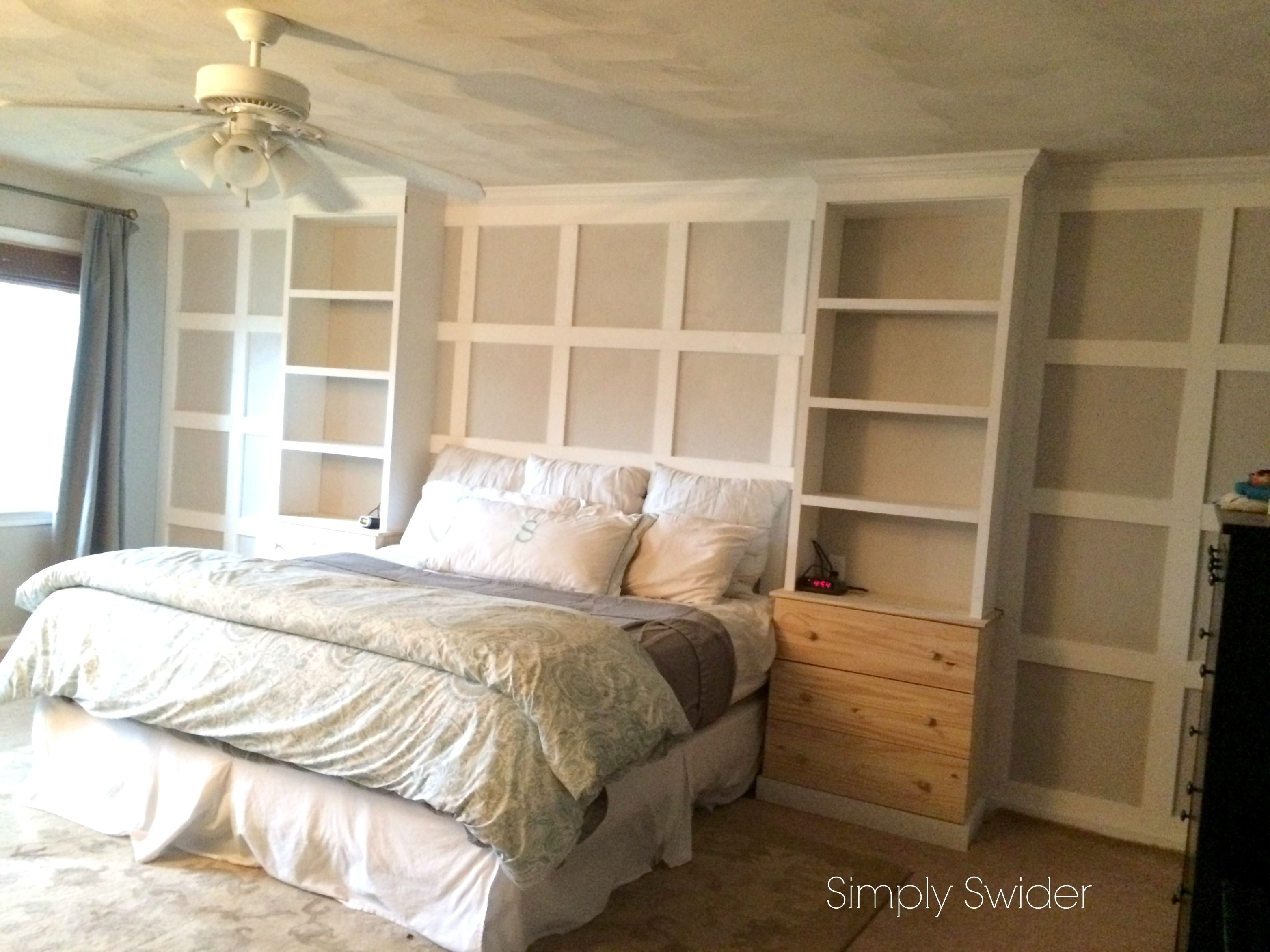 Built Ins In The Master Bedroom With An Ikea Hack Bedroom Built