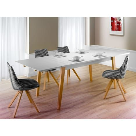 table extensible l250cm pretty, style scandinave | home staging