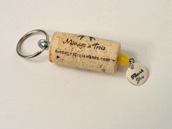 wine cork keychains ideas