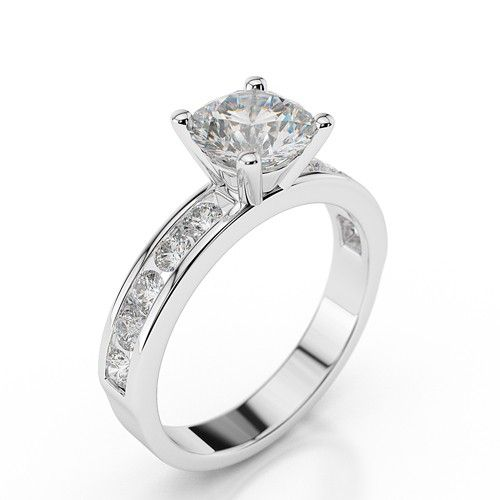 Enchantment In White Gold 1 00ct 1 65cttw Swarovski Engagement Rings Diamond Engagement Rings Engagement Rings Under 1000