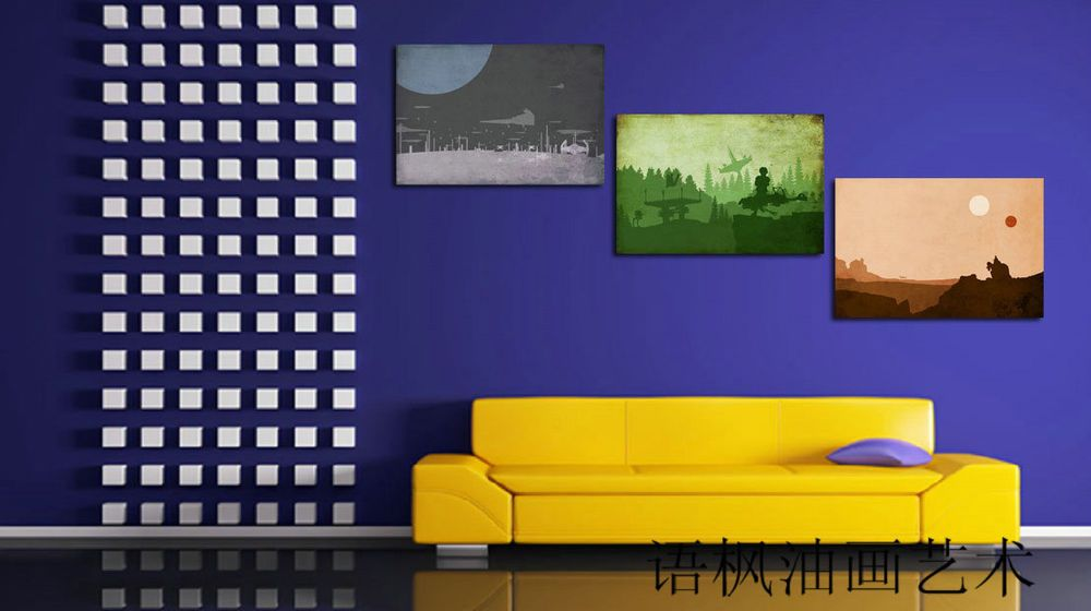 Oil Painting HD Print Wall Decor Art on Canvas,Star Wars Art (Unframed) 3PCS