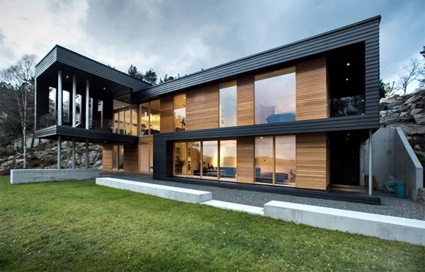 Scandinavian Wooden House With View Of The Beach Scandinavian Modern House Architecture Architecture Design