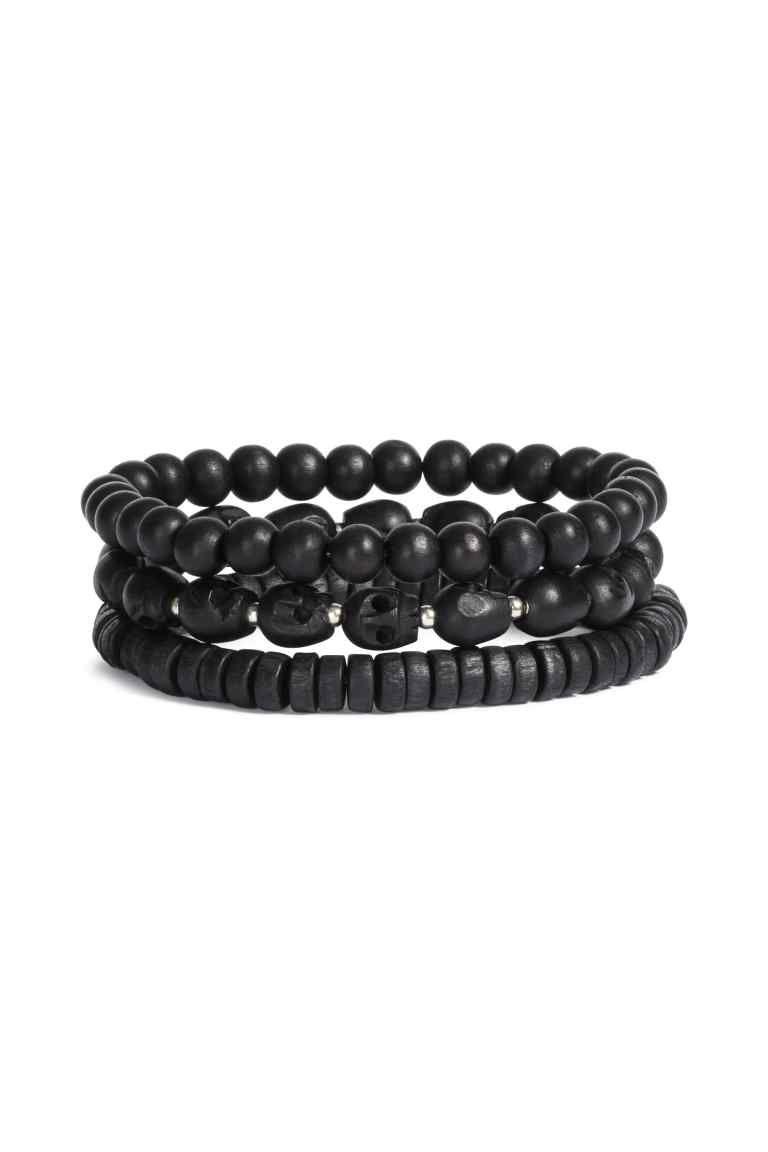 Set van 3 armbanden - Zwart - HEREN | H&M NL 1