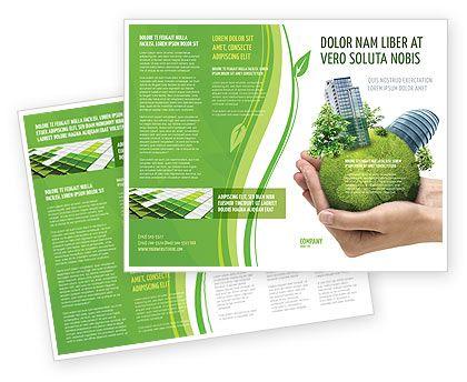 Green Brochure Design Template  Google Search  Green