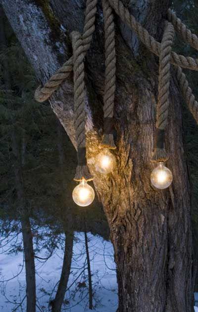10 ideas para hacer lámparas caseras para el jardín Pinterest - Lamparas Caseras