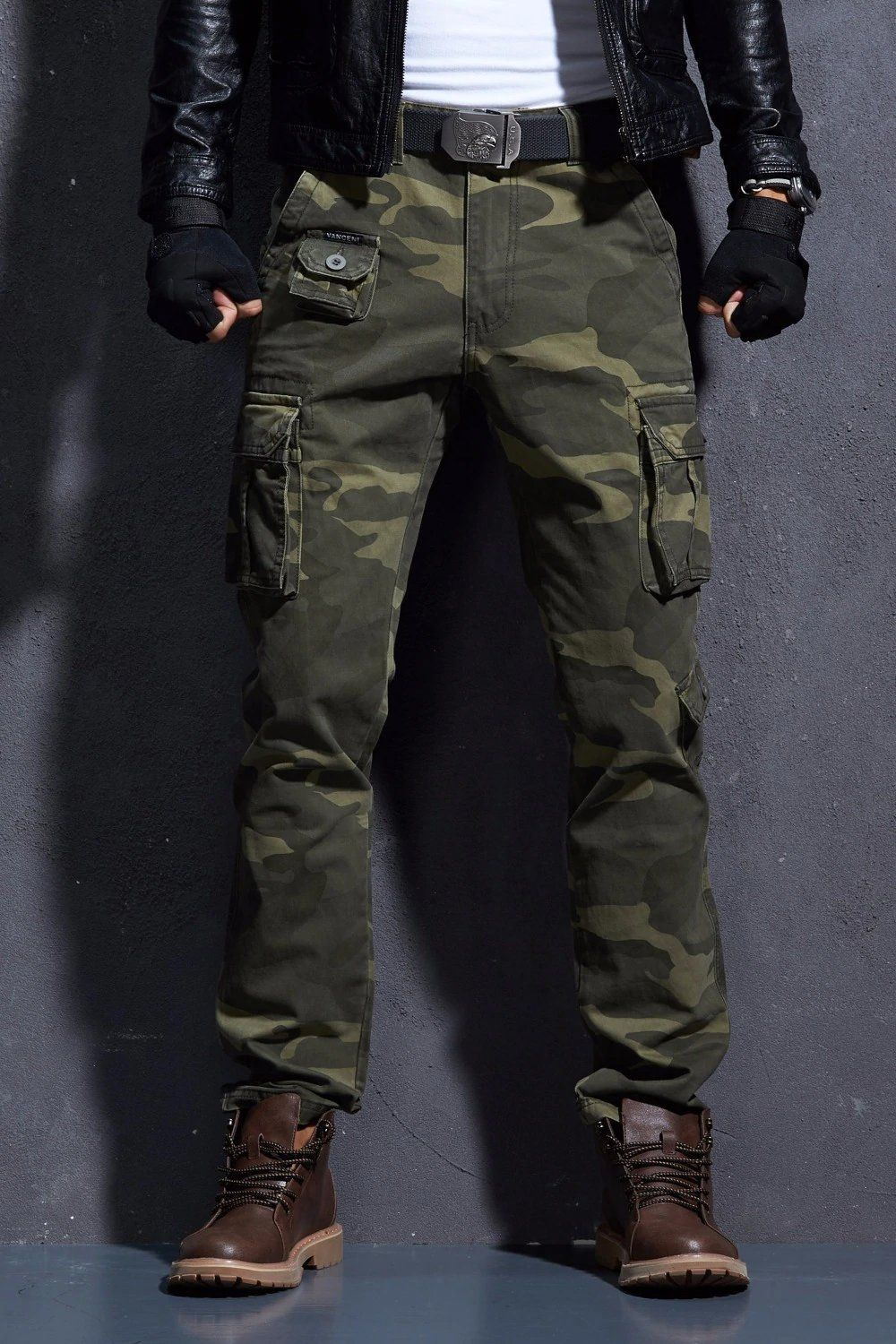 7cb495abeab Camouflage Pant s For Men Army Style Urban Clothing Military Style  Camouflage Multi-Pocket Tactical Cargo