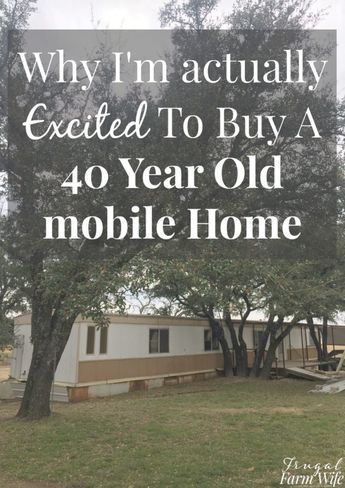 I'm so excited to buy an old mobile home! <iframe width=