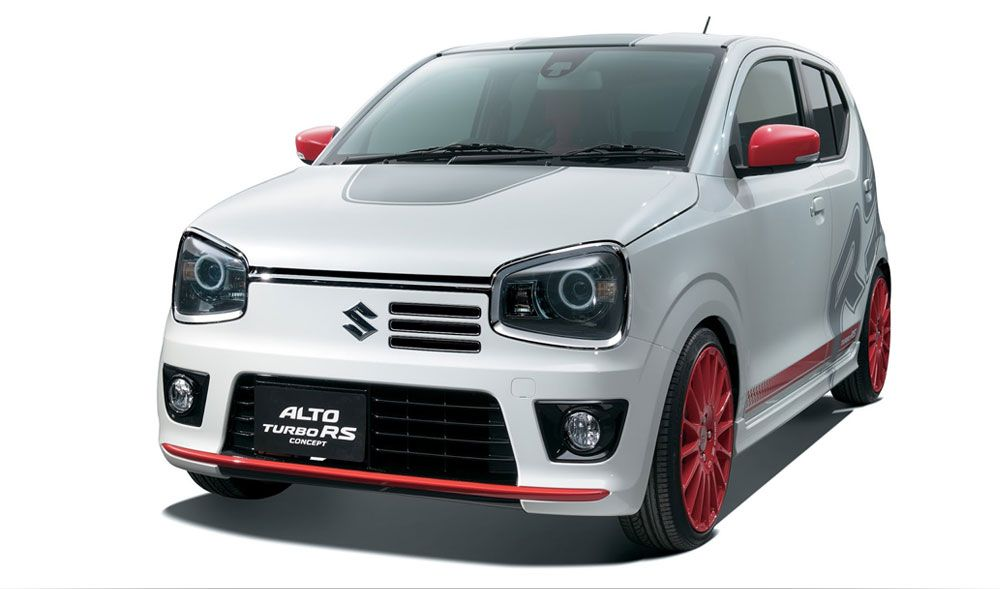 Suzuki Alto RS Turbo Showcased In Japan This Is The Upcoming RS Variant Of  The Latest Kei Car From Suzuki, The Alto. Suzuki Will Officially Reveal The  Model ...