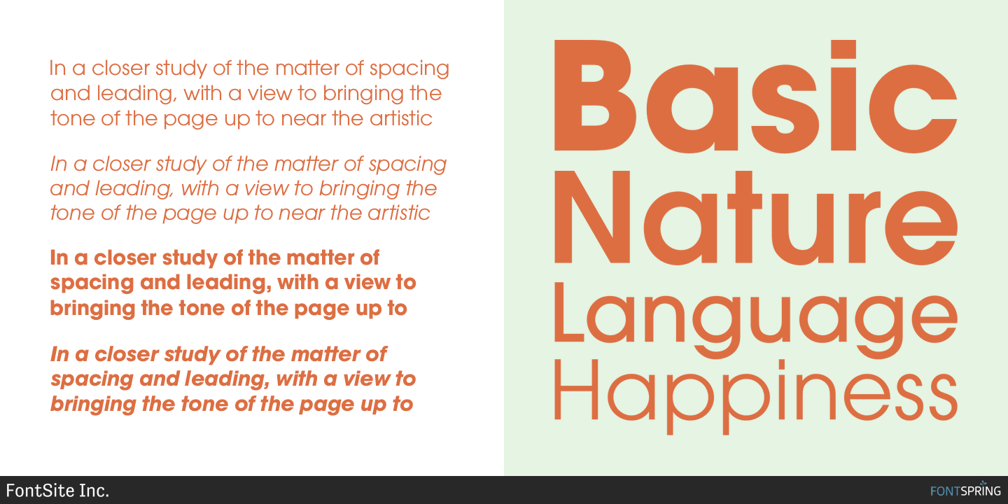 Check out the Avalon font at Fontspring  Emphasizing the