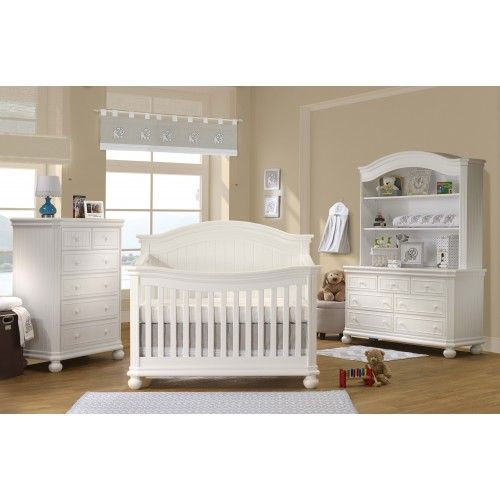 Sorelle Finley 4 In 1 Convertible Crib In White Drawers