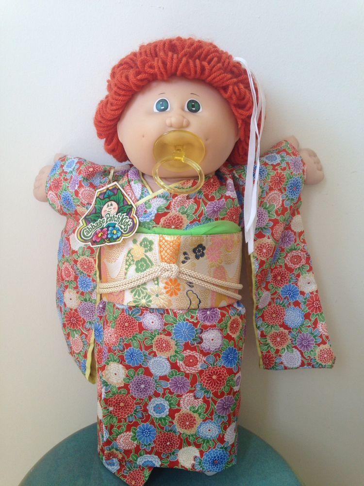 a0a182ab3a2e7 RARE Vintage 1985 Tsukuda Japan CPK Cabbage Patch Kids Kimono Girl ...