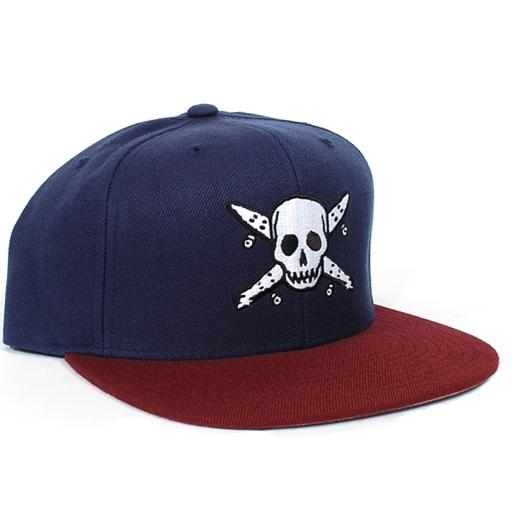 Fourstar Pirate Snapback Hat Navy Burgundy Snapback Hats Hats Snapback