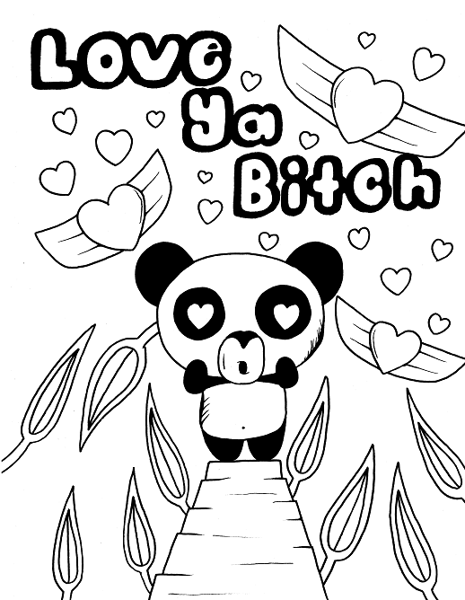 Panda Adult Coloring Page Swear 14 Free Printable Coloring Pages Visit Swea Free Adult Coloring Printables Free Adult Coloring Pages