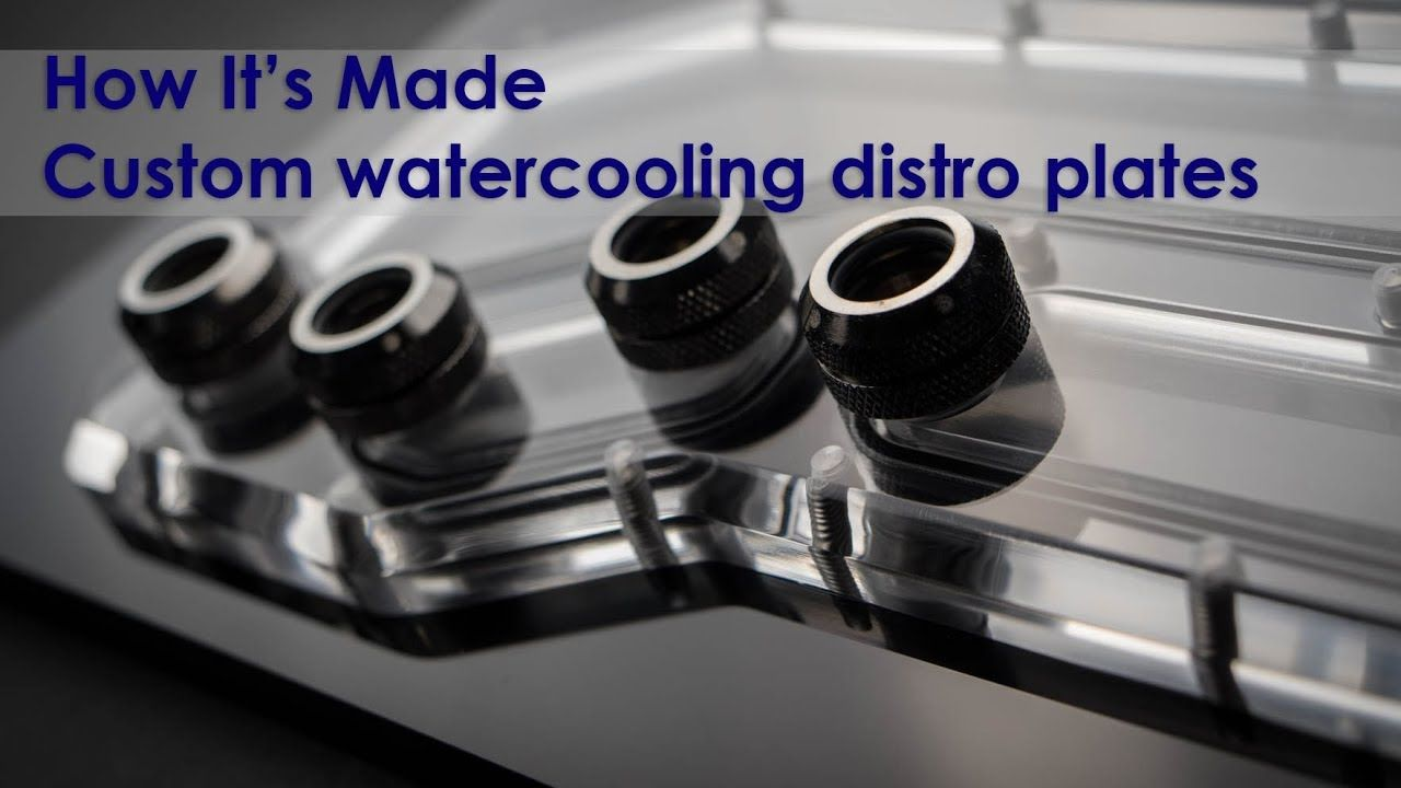 Making A Acrylic Watercooling Distribution Plate Manifold