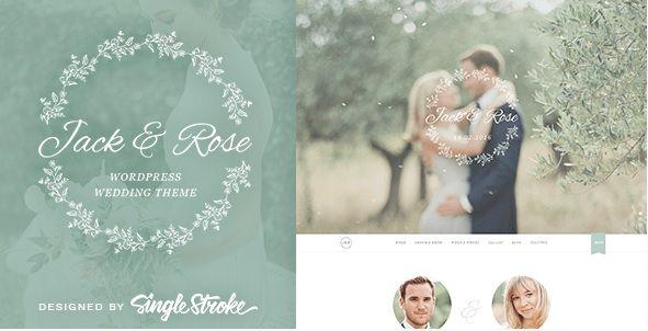 One Page Wedding Website Template Best Wordpress Wedding