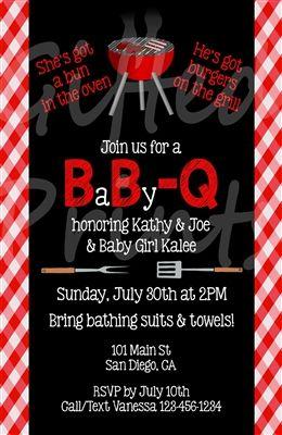 Baby Q Baby Shower Invitation Picnic Border Bridal Shower Invitations Bridal Shower Invitations Printable Baby Shower Invitations