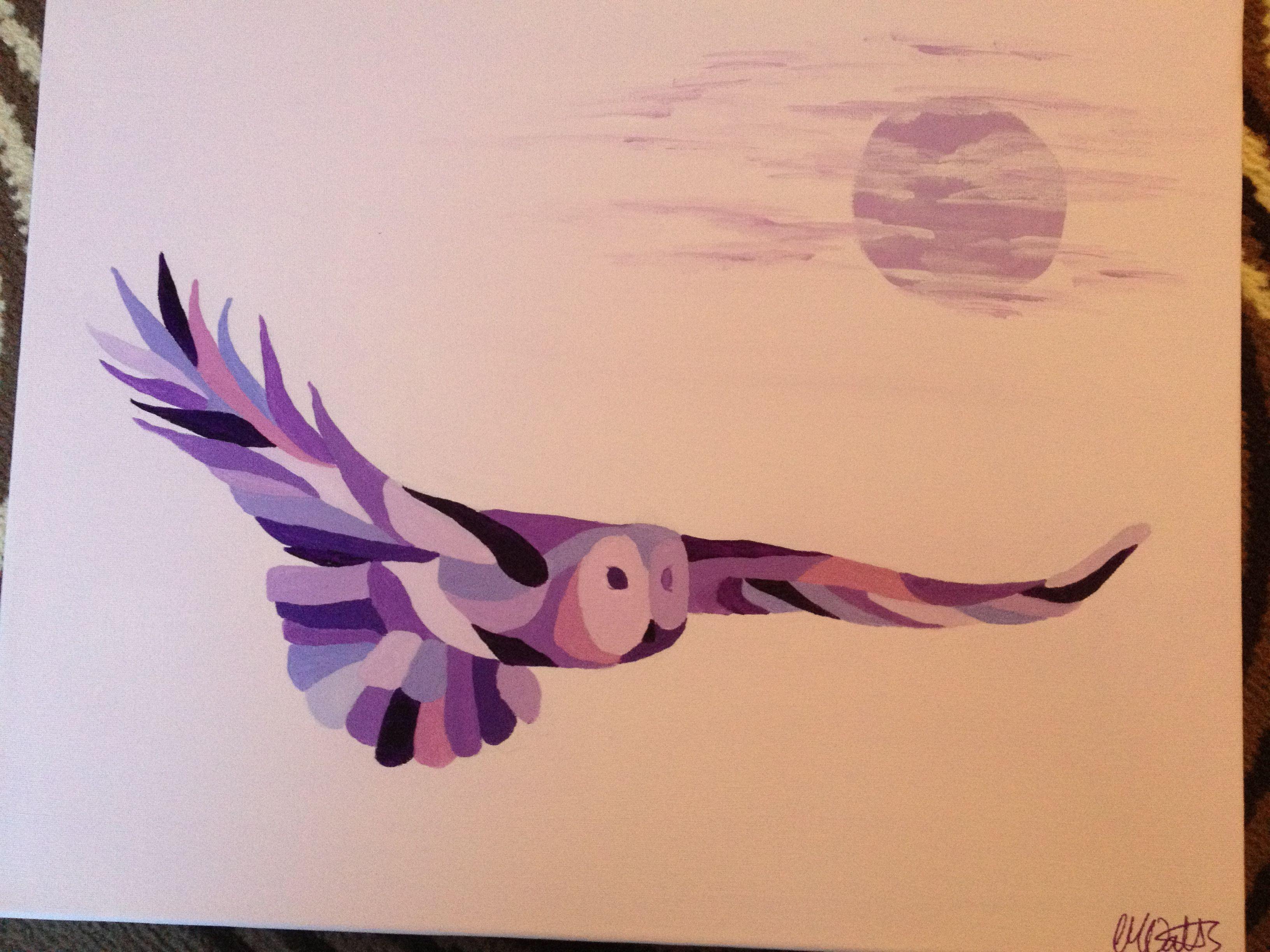Twilight Hunter - acrylics on canvas
