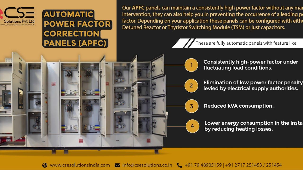 Automatic Power Factor Correction Panels Apfc Power Control Panels Higher Power