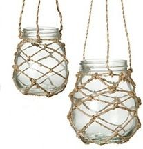 Another way to hang jars - has a nautical feel