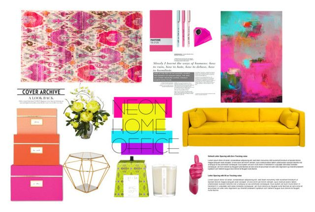 NEON MOOD by gizaboudib on Polyvore featuring polyvore, interior, interiors, interior design, home, home decor, interior decorating, Wrong for Hay, Lucia, Nearly Natural, Seletti, ban.do, Eichholtz, Kate Spade and neonhomeoffice