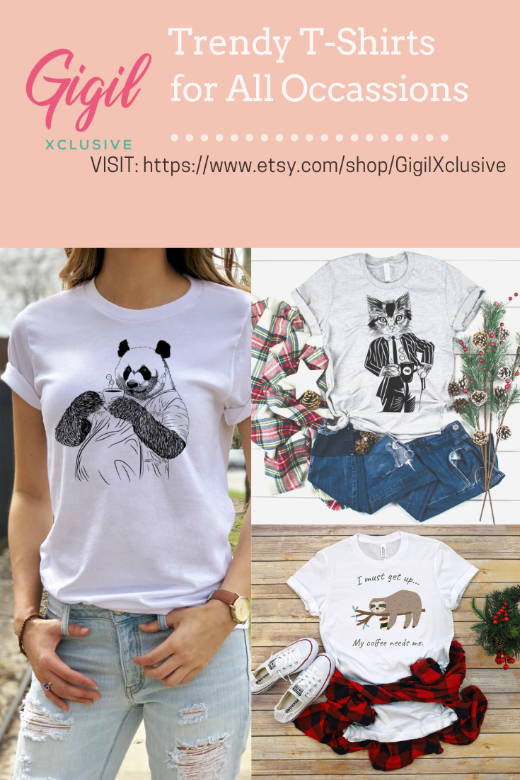 Wear the good that you believe in! Inspiring responsible stewardship and raising awareness through trendy and stylish t-shirt designs. We proudly donate $1 to a local animal shelter for every animal graphic t-shirt you buy. FREE shipping for all US orders. #gigilxclusive #animallovers #tshirtdesign #coffeelover