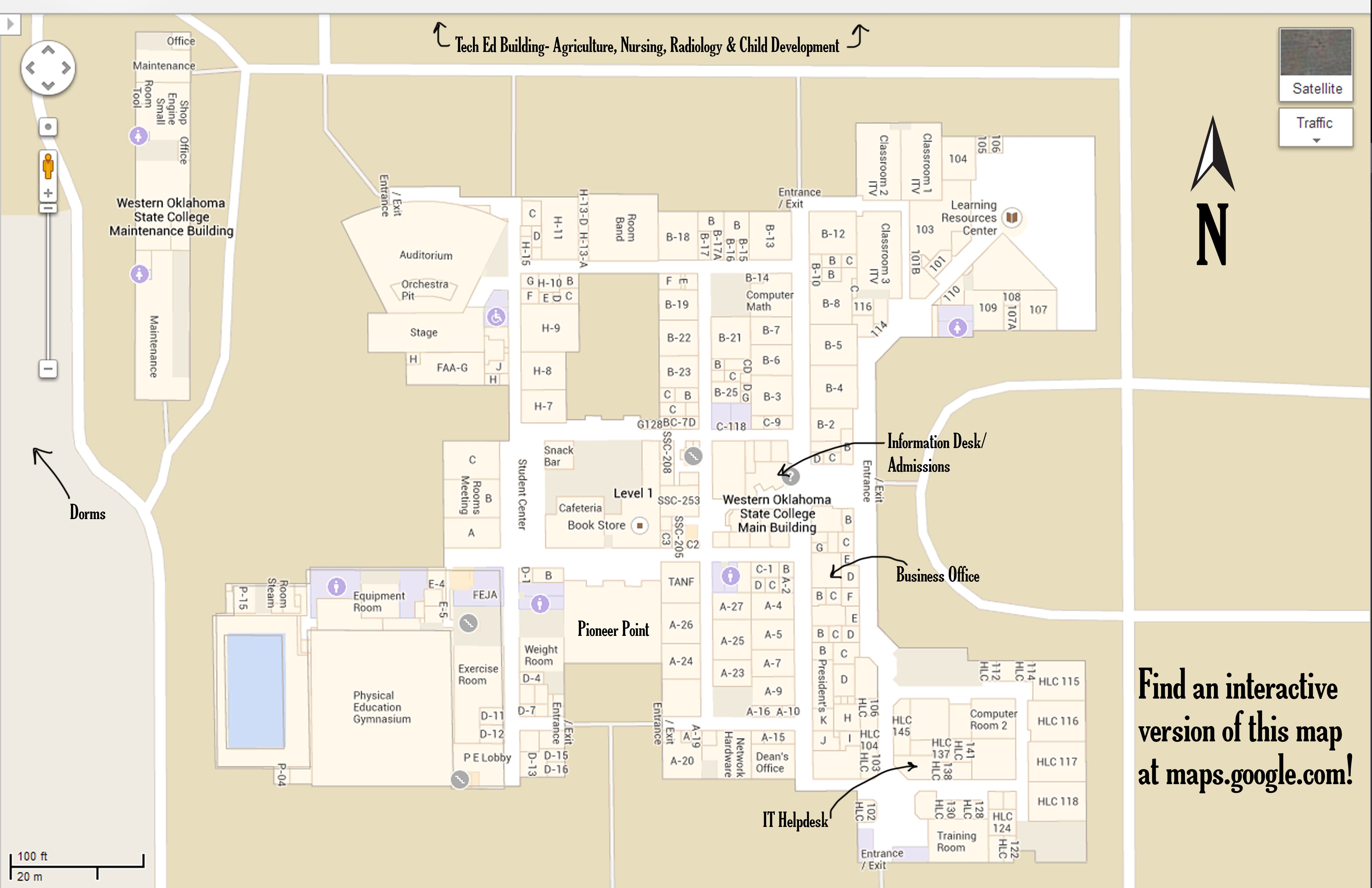 Western Oklahoma State College Campus Map Click On The