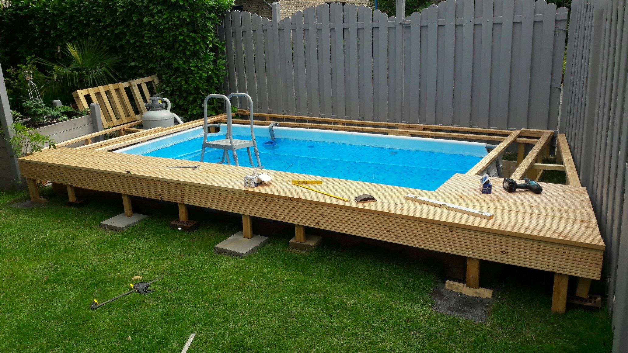 Pin By Ashley Seyford On Backyard Diy Swimming Pool Small Backyard Pools Backyard Pool Designs