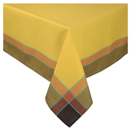 Found It At Wayfair Riviera Tablecloth In Gold Contemporary