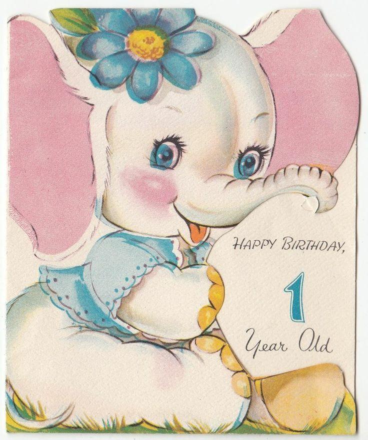VintageCards 1st BDay Vintage Postcards Pinterest – 1 Birthday Card