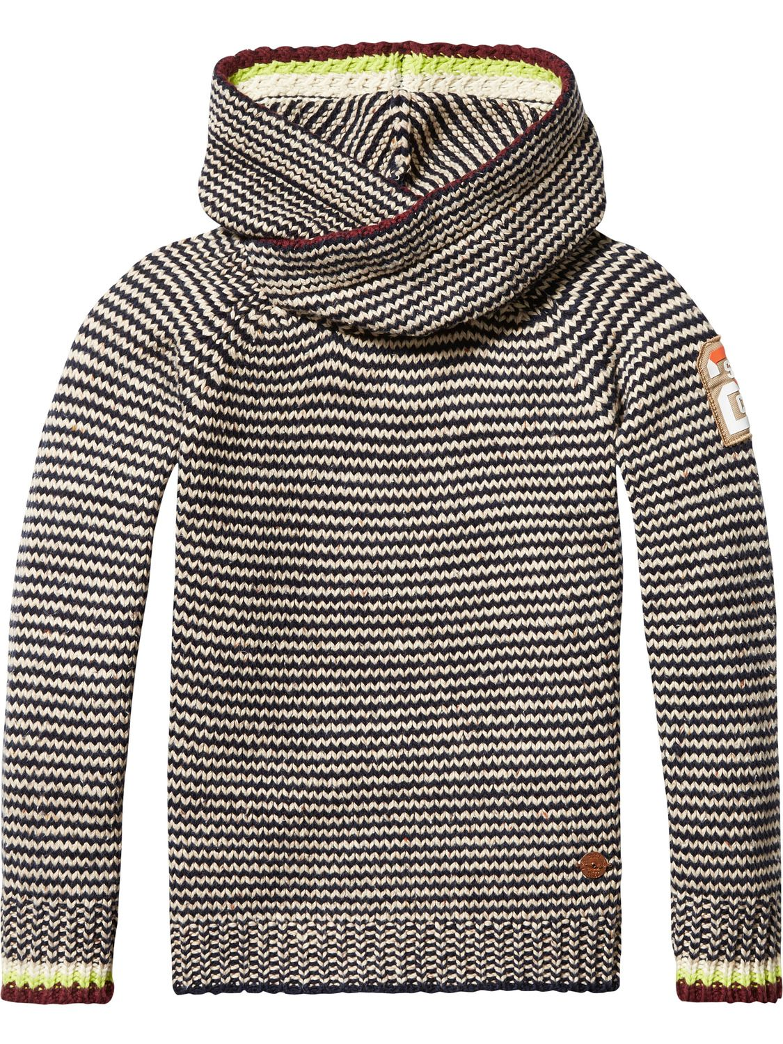 76e96d0d0 Scotch & Soda knitted hoodie. Love the overlapping on the neck ...