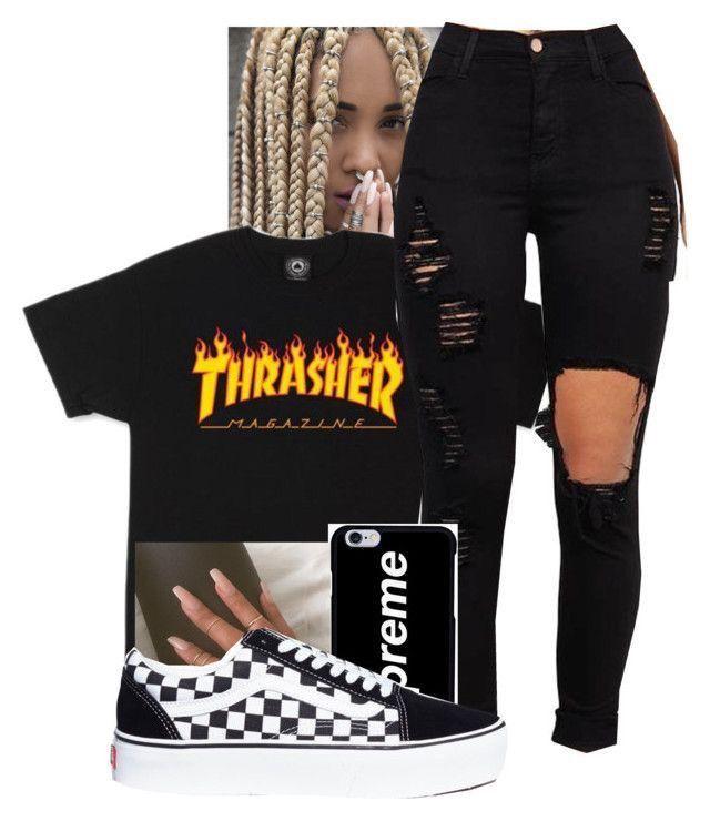Thrasher Streetstyle Fashion #baddieoutfitsforschool